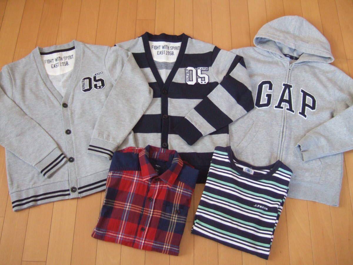 男の子 福袋 26点セット まとめ売り 140cm GAP Jプレス ディズニーランドTシャツ バグズライフ_画像2