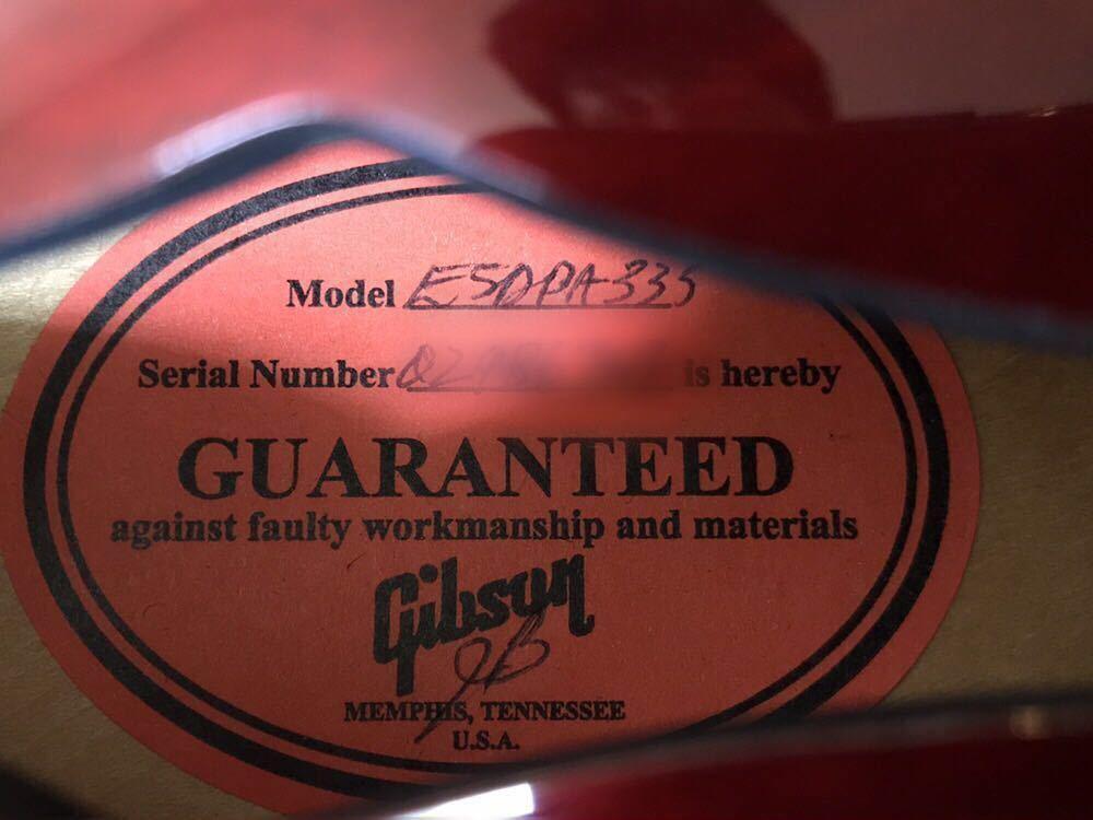 Gibson Custom Shop ES-335 2006年製/Tom Holmes ピックアップ搭載_画像6