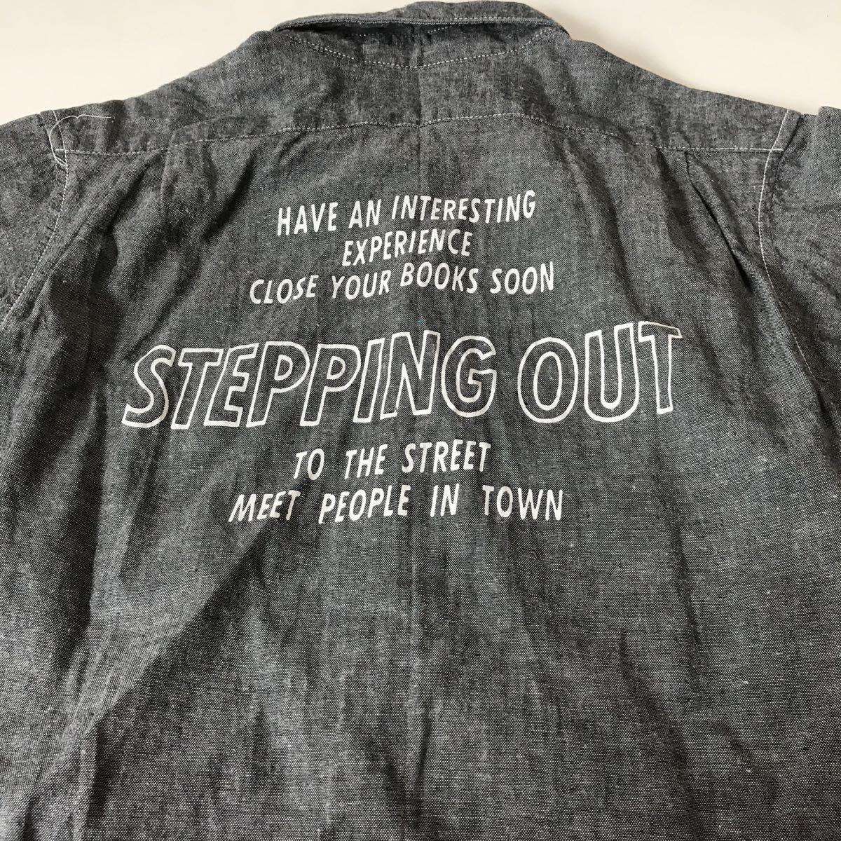 BOBSON 半袖シャツ サイズ130 綿100% グレー色 男の子 お出かけなどにもぴったり クリックポスト185円発送可能_画像6