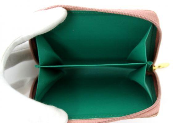 ●新品未使用 本物オーストリッチ コインケース 小銭入れ財布 ピンク レザー 革 ファスナー式 Z2076_画像4