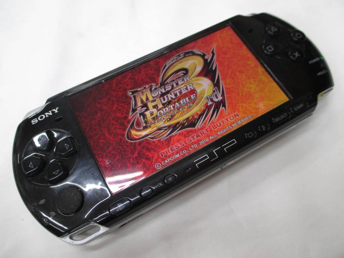 SONY PSP-3000 ピアノブラック 本体 充電器 ソフト 箱付き★動作確認済 【a0130420】_画像2