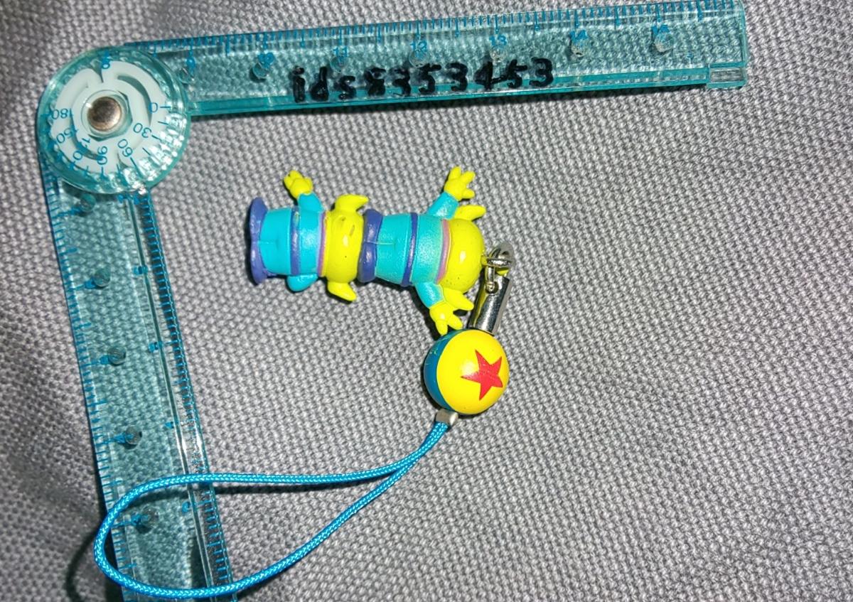 エイリアン リトルグリーンメン ストラップ トイ・ストーリー 球 ディズニー ピクサーボール 2段 ミニフィギュア LGM Toy Story_画像3