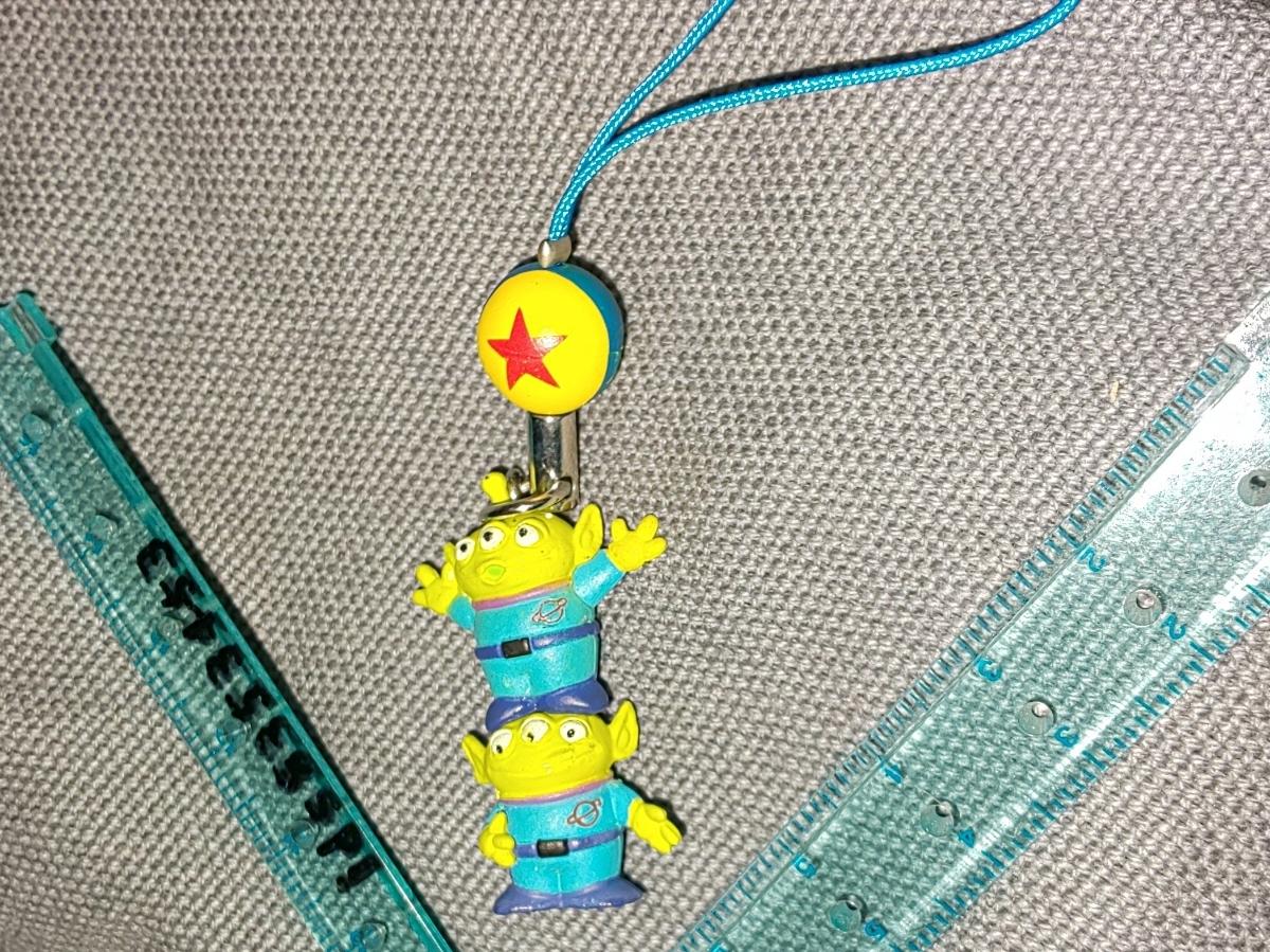 エイリアン リトルグリーンメン ストラップ トイ・ストーリー 球 ディズニー ピクサーボール 2段 ミニフィギュア LGM Toy Story_画像2