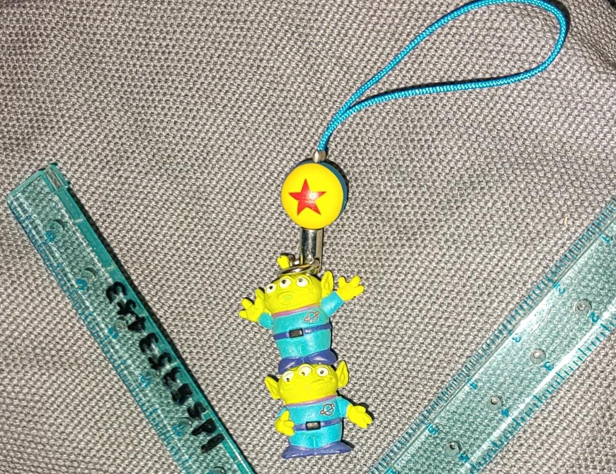エイリアン リトルグリーンメン ストラップ トイ・ストーリー 球 ディズニー ピクサーボール 2段 ミニフィギュア LGM Toy Story_画像1