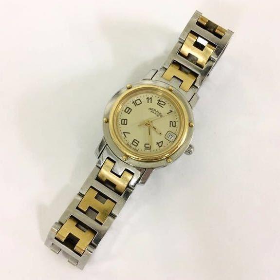 HERMES/エルメス クリッパー CL4 220 レディース腕時計 1円スタート_画像5