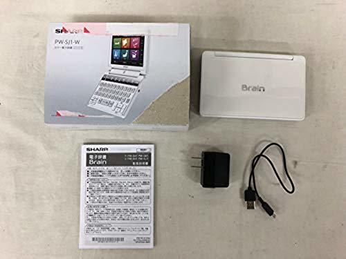 1円~シャープ カラー電子辞書Brain 中学生モデル ホワイト系 PW-SJ1-W_画像3