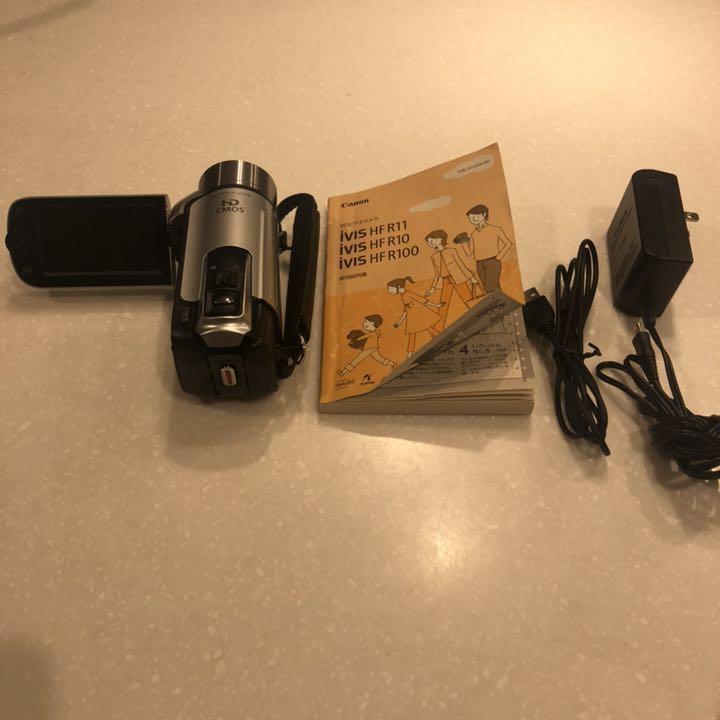 1円~Canon デジタルビデオカメラ iVIS HF R11 スノーシルバー IVISHFR11SL_画像3