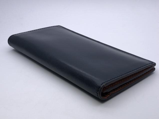 9g4新品◆GANZO fico ブライドルレザー 長財布◆牛革レザー/フィーコbyガンゾ/紺ネイビー_画像2