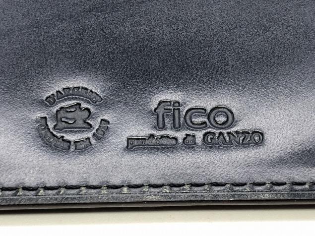 9g4新品◆GANZO fico ブライドルレザー 長財布◆牛革レザー/フィーコbyガンゾ/紺ネイビー_画像5