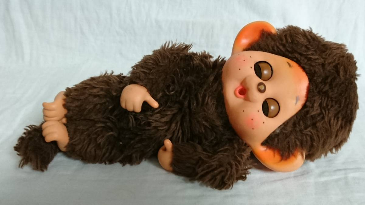 大助人形? まごころの人形? 「スリープアイのモンチッチ似人形」 約32cm 指しゃぶり TOHO だいすけ ダイスケ セキグチ_画像10