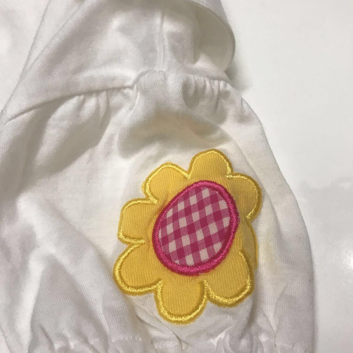 ミキハウス チエコサク☆新品 半袖 ブラウス 80☆お花 レトロ_画像4