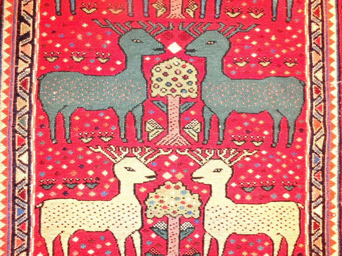 「KB16」イラン直輸入☆新品◇未使用|ペルシャ絨毯 ♪ キリム 草木染め 手織り ハンドメイド ロングサイズ 194cm×74cm_画像2