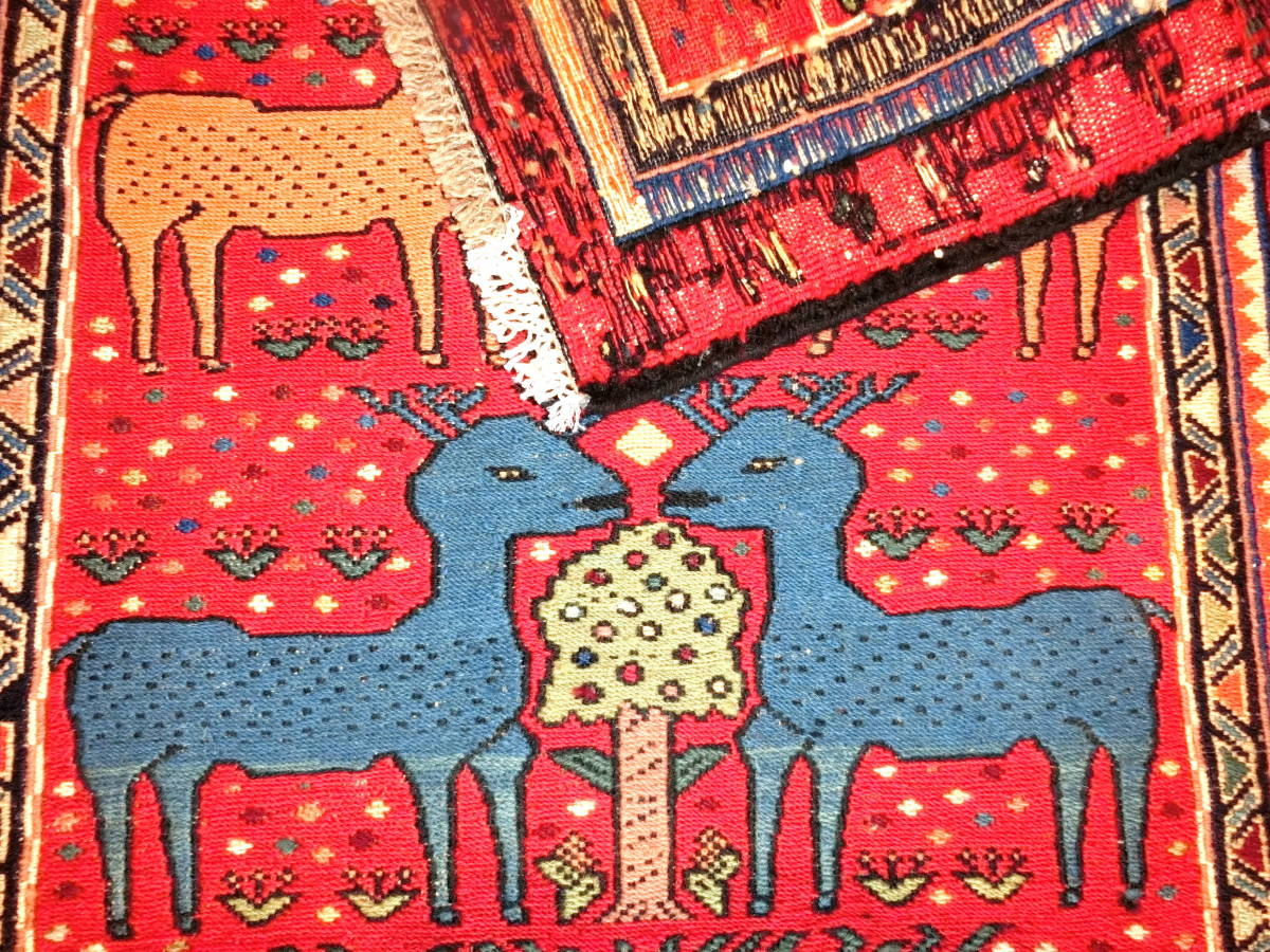 「KB16」イラン直輸入☆新品◇未使用|ペルシャ絨毯 ♪ キリム 草木染め 手織り ハンドメイド ロングサイズ 194cm×74cm_画像4