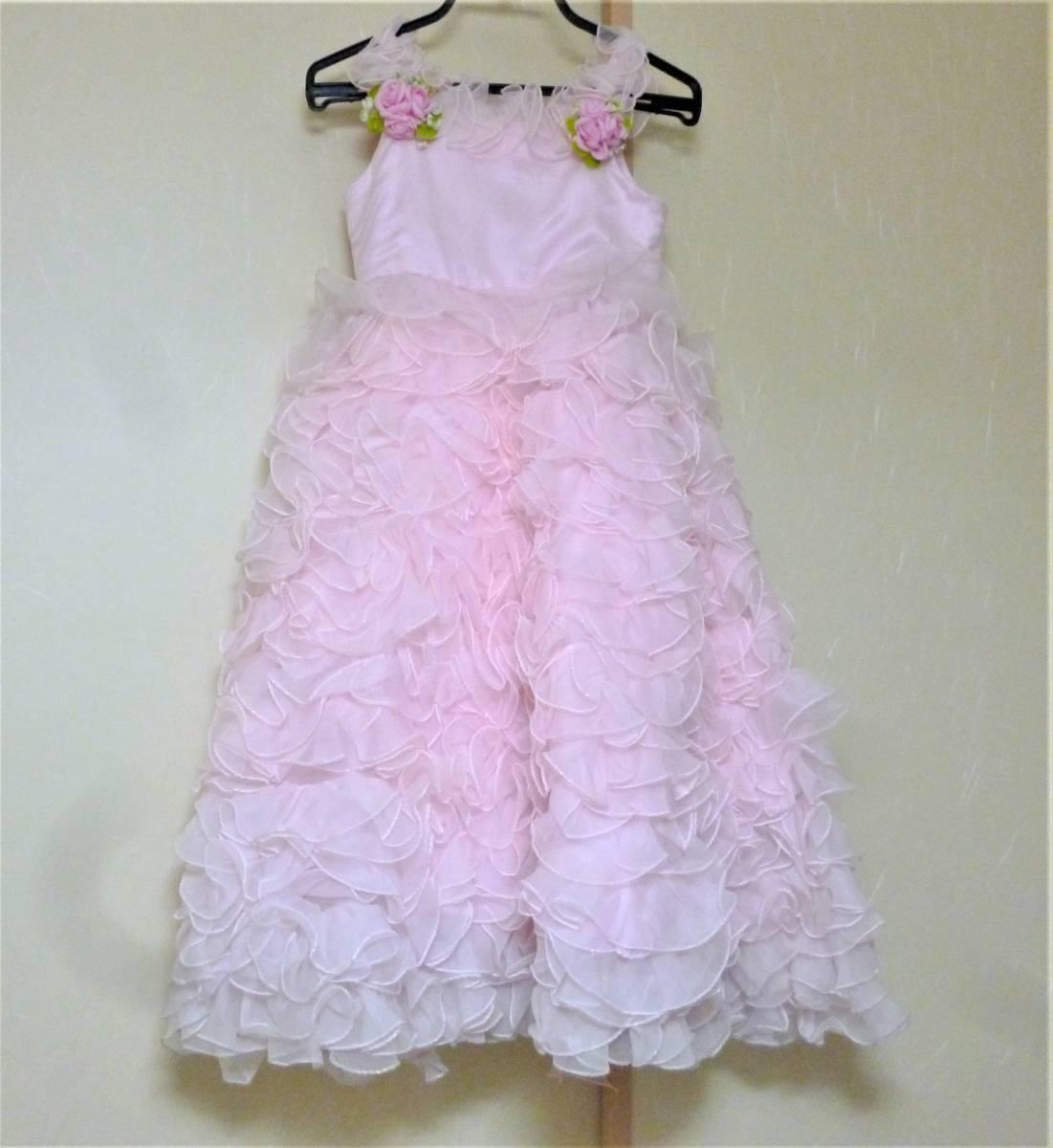 f5a70b7a701df ヤフオク! - ピンクのフリフリドレス☆110 発表会 結婚式