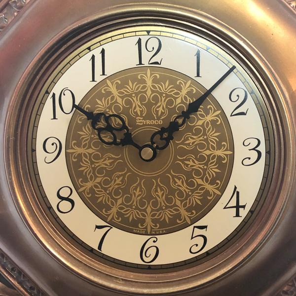 送料無料 アンティークウォールクロック SYROCO/ヴィンテージ壁掛け時計アメリカ製usa製ミッドセンチュリー北欧昭和レトロモダン50s60s70s_画像3