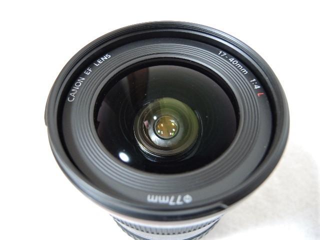 ◆キヤノン CANON ZOOM EF 17-40mm 1:4 L USM レンズ _画像6