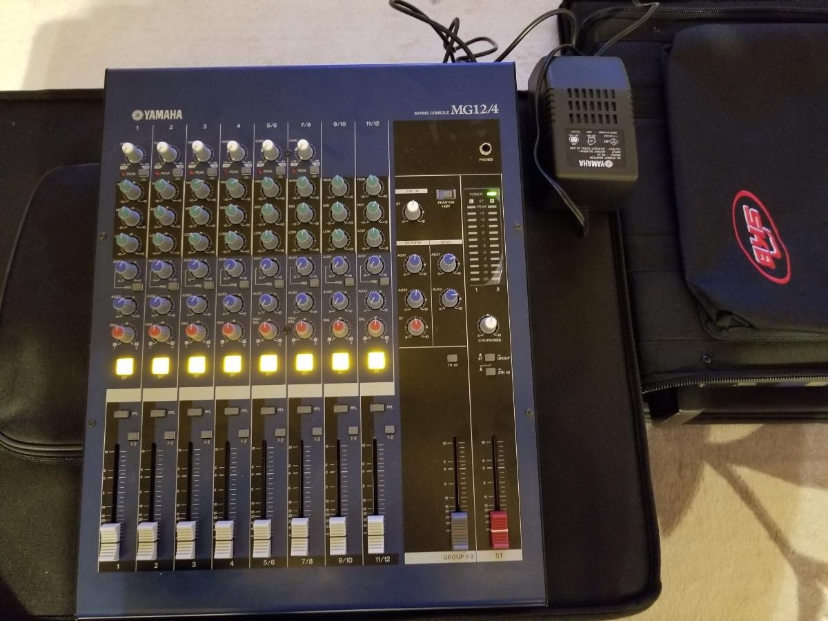 YAMAHAパワーアンプP4500とミキサーMG12/4のセット_画像3
