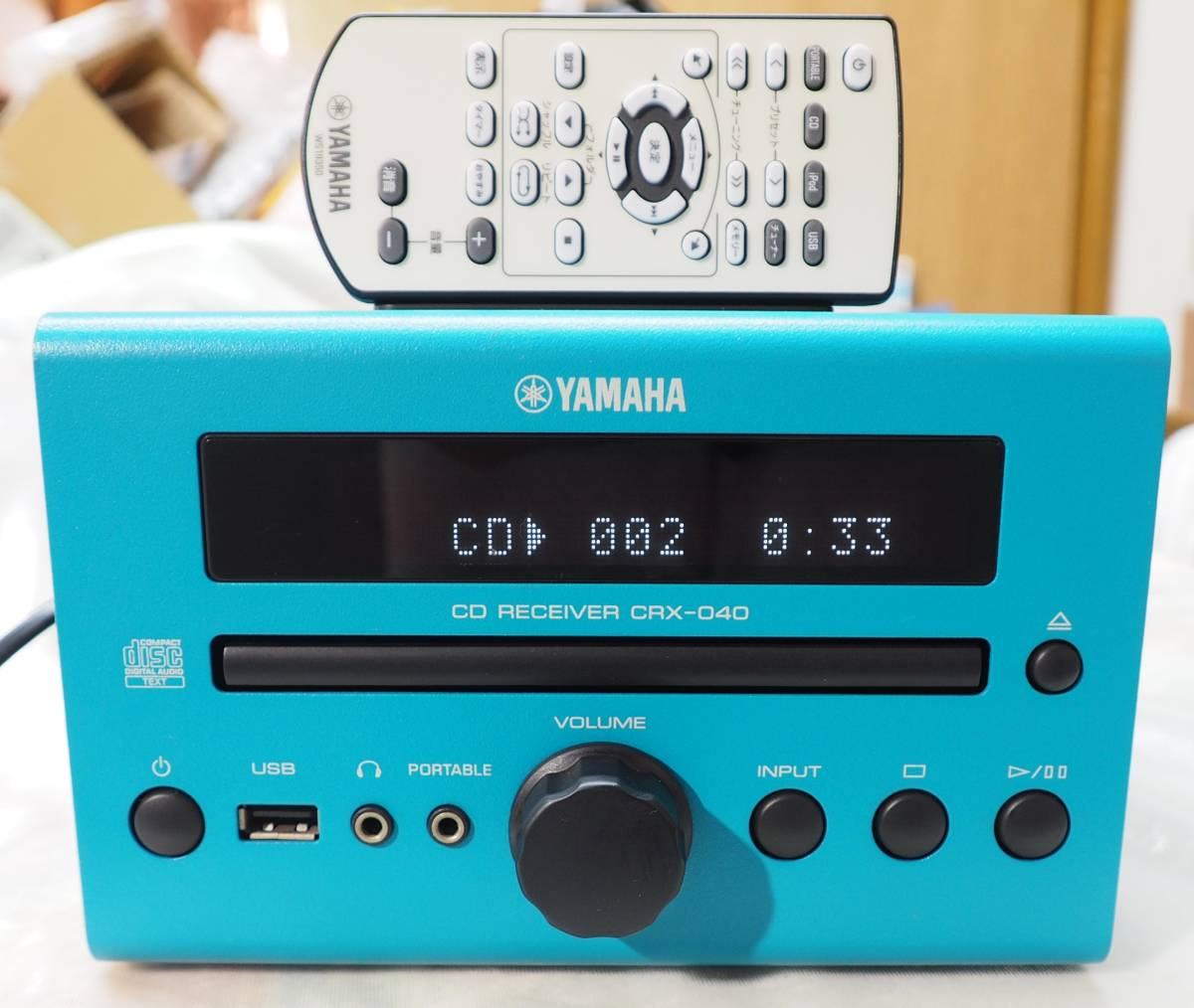 YAMAHA CRX-040 CDレシーバーアンプ【ピックアップ新品・リモコン付属・動作品】_画像1