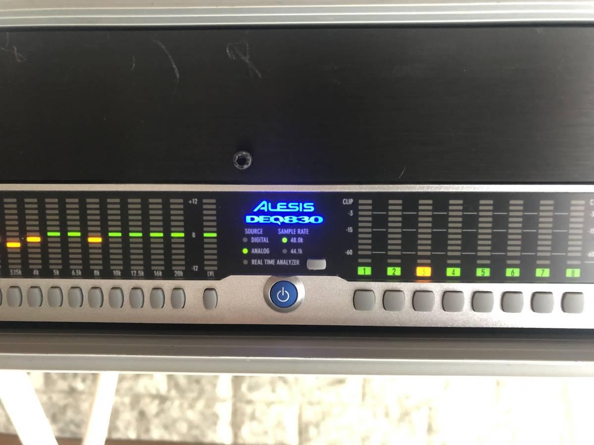 パワーディストリビューター FURMAN M-8X2 と デジタルイコライザー ALESIS DEQ830 ラックケース入り_画像2