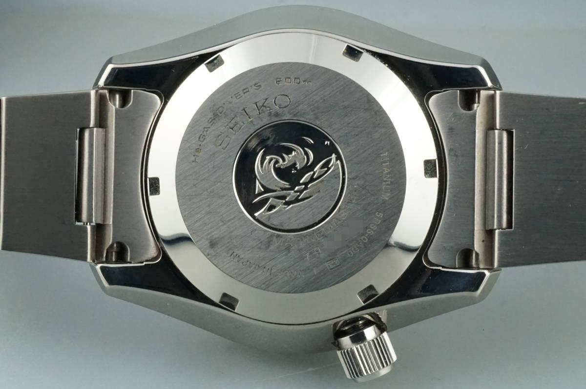 美品 セイコー マリーンマスター プロスペックス ダイバー 600M 5R66-0AD0 スプリングドライブ チタン SEIKO MARINEMASTER アンティーク_画像3