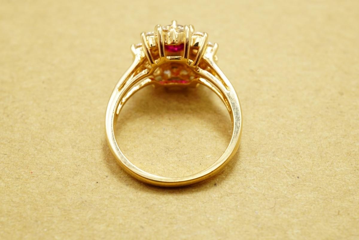 17 ルビー ヴィンテージリング 指輪 ペンダント アクセサリー 大量 おまとめ まとめて まとめ売り 宝石 色石 カラーストーン ネックレス_画像10