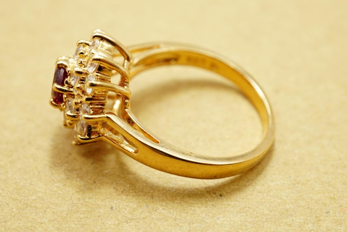 17 ルビー ヴィンテージリング 指輪 ペンダント アクセサリー 大量 おまとめ まとめて まとめ売り 宝石 色石 カラーストーン ネックレス_画像6