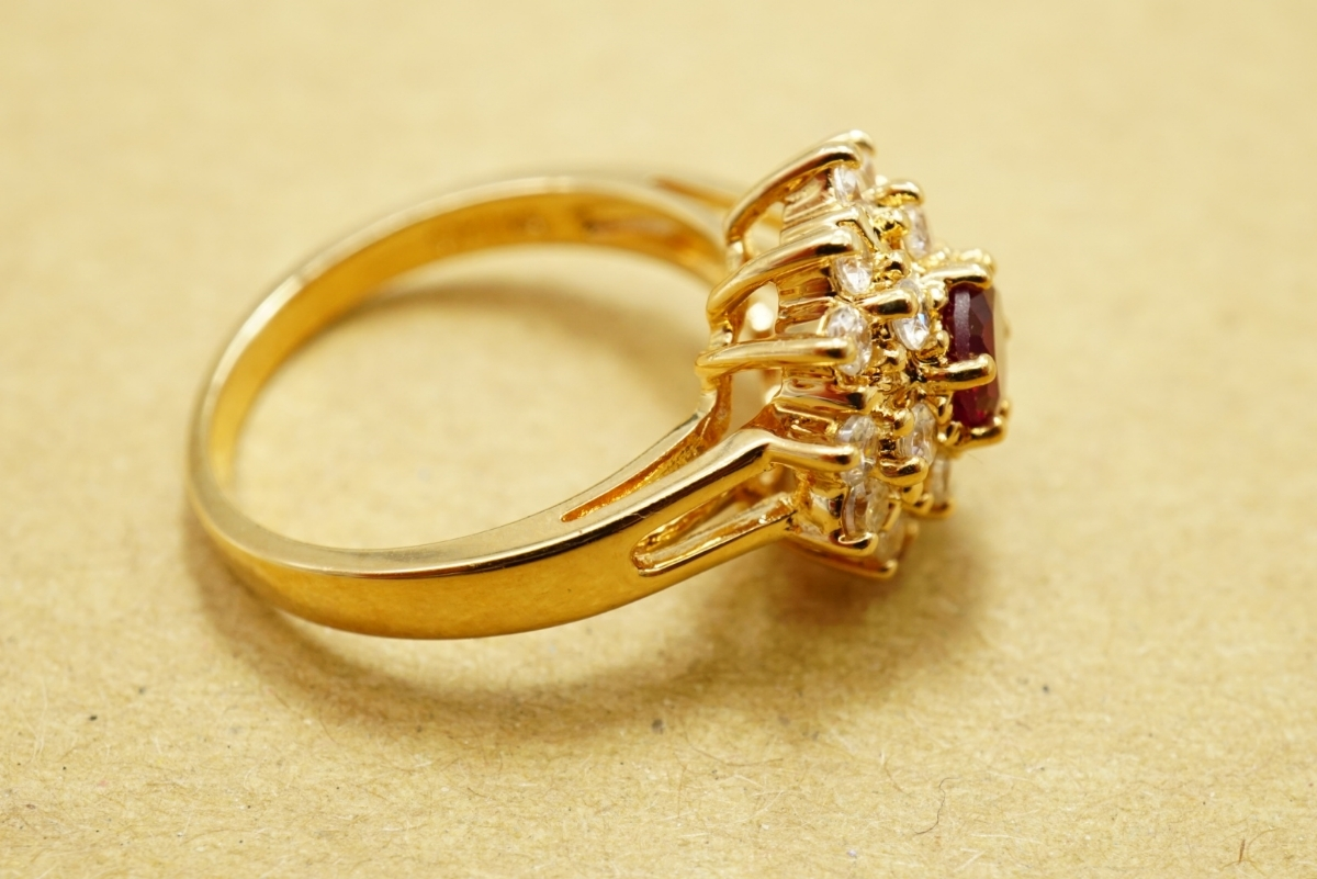 17 ルビー ヴィンテージリング 指輪 ペンダント アクセサリー 大量 おまとめ まとめて まとめ売り 宝石 色石 カラーストーン ネックレス_画像7