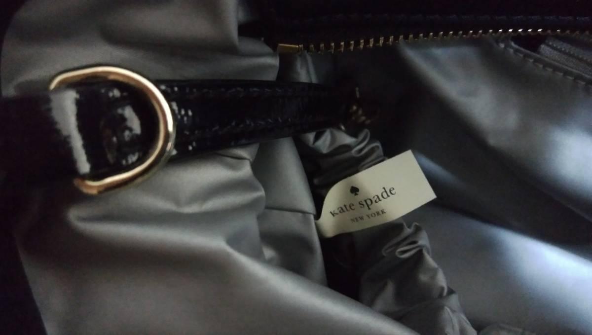 【美品】◇ケイトスペード◇Kate spade◇マザーズバッグ◇ママバッグ◇ナイロン×エナメル◇黒◇おむつシート付◇_画像5