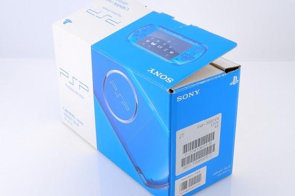【本体 新品同様】 PSP-3000 PSP 本体 バイブラント・ブルー PSP-3000VB 希少_画像2