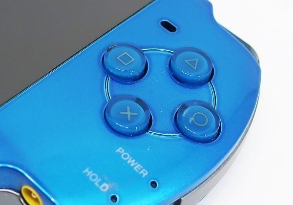 【本体 新品同様】 PSP-3000 PSP 本体 バイブラント・ブルー PSP-3000VB 希少_画像6