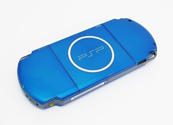 【本体 新品同様】 PSP-3000 PSP 本体 バイブラント・ブルー PSP-3000VB 希少_画像8