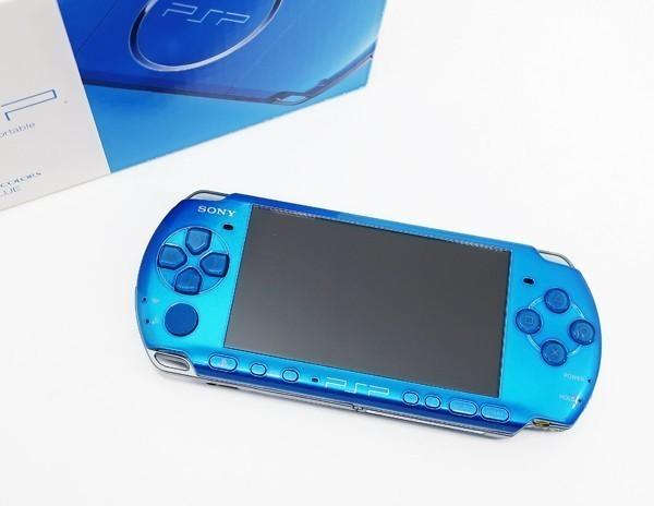【本体 新品同様】 PSP-3000 PSP 本体 バイブラント・ブルー PSP-3000VB 希少_画像5