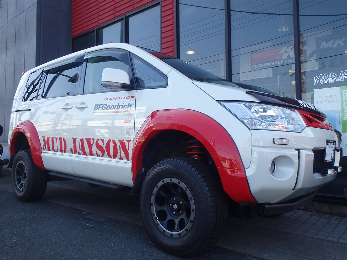 デリカD5 5inch アップ+オーバーフェンダー MUDJAYSON デモカー 公認車 予備検わたし 走行3.5万k 10年10万kメーカー保証対応車