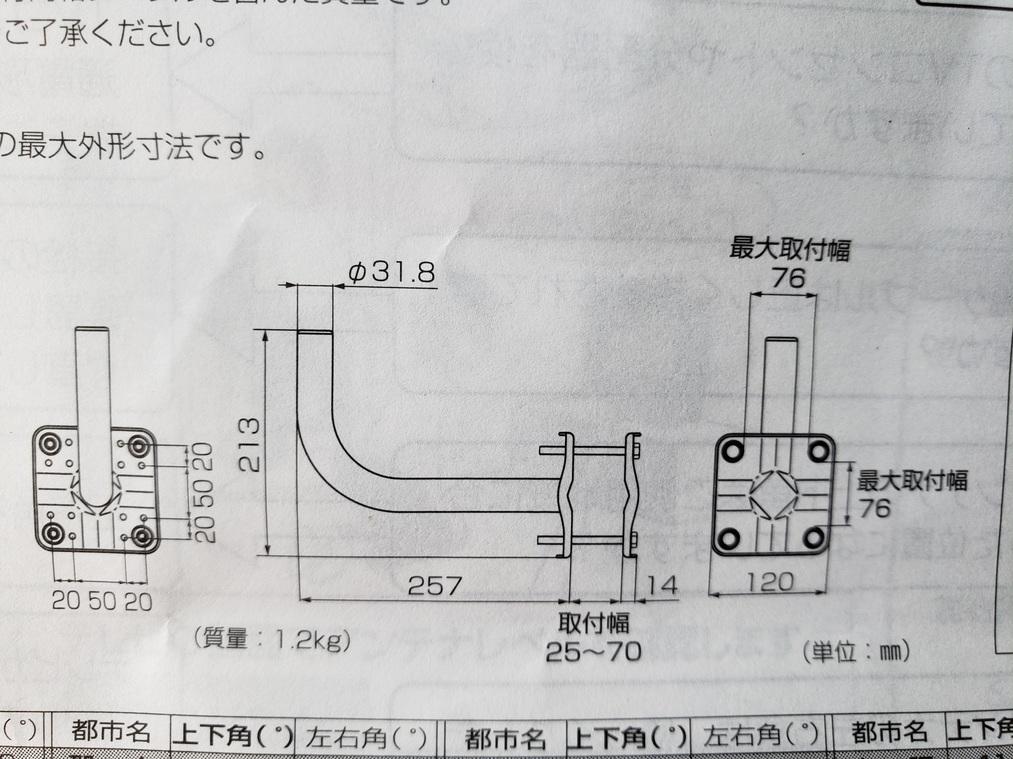BS・CSアンテナ 接栓付き同軸ケーブル 15m ベランダ壁面取付金具 _画像4
