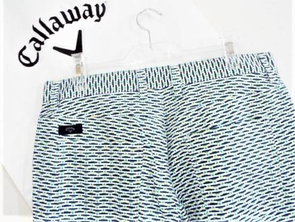 ◎新品◎Callaway キャロウェイ / w88-90 / 春夏 / メキシカンプリント ストレートパンツ / 定価14,040円 / DRY / UV / サイズLL_画像4