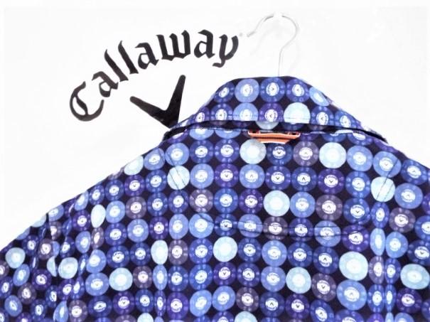 ★超美品★Callaway キャロウェイ / レッドレーベル / Vマーク カジノコインプリント マルチカラー プルオーバーシャツ / サイズ3L _画像3