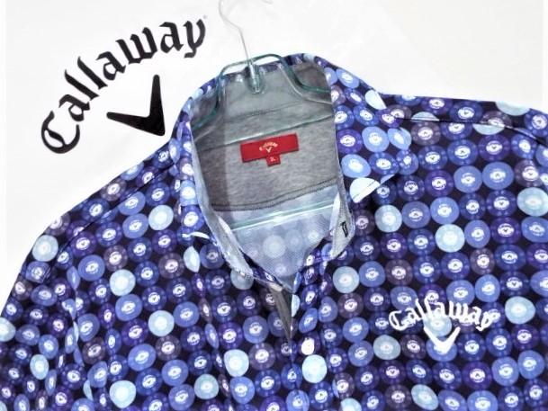 ★超美品★Callaway キャロウェイ / レッドレーベル / Vマーク カジノコインプリント マルチカラー プルオーバーシャツ / サイズ3L _画像4