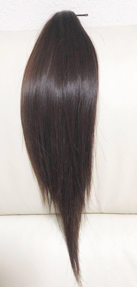 髪束 人毛 50cm 髪の毛 ウィッグ エクステ 毛束 99g