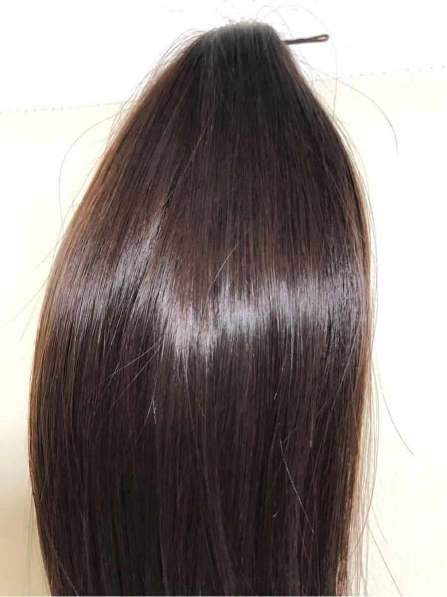 髪束 人毛 50cm 髪の毛 ウィッグ エクステ 毛束 99g_画像2
