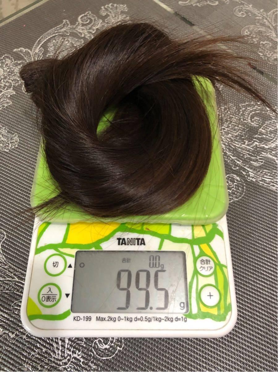 髪束 人毛 50cm 髪の毛 ウィッグ エクステ 毛束 99g_画像5