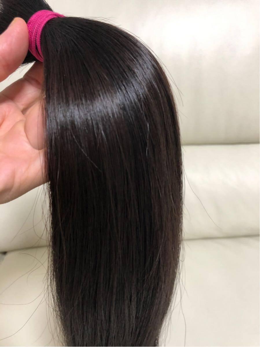 髪束 人毛 52㎝ 髪の毛 ウィッグ エクステ 毛束 116g_画像2