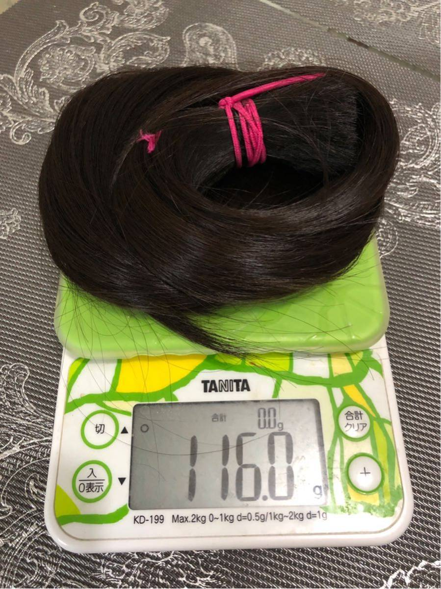 髪束 人毛 52㎝ 髪の毛 ウィッグ エクステ 毛束 116g_画像6