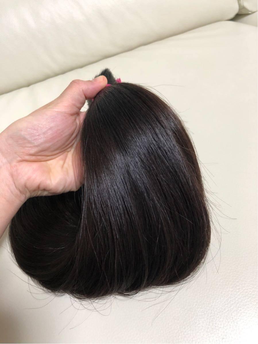 髪束 人毛 52㎝ 髪の毛 ウィッグ エクステ 毛束 116g_画像3
