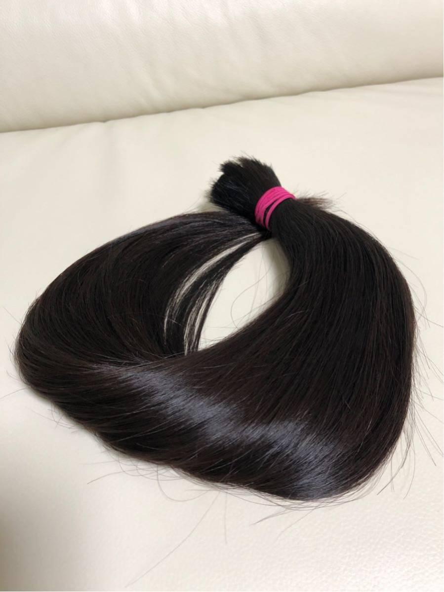髪束 人毛 52㎝ 髪の毛 ウィッグ エクステ 毛束 116g_画像4