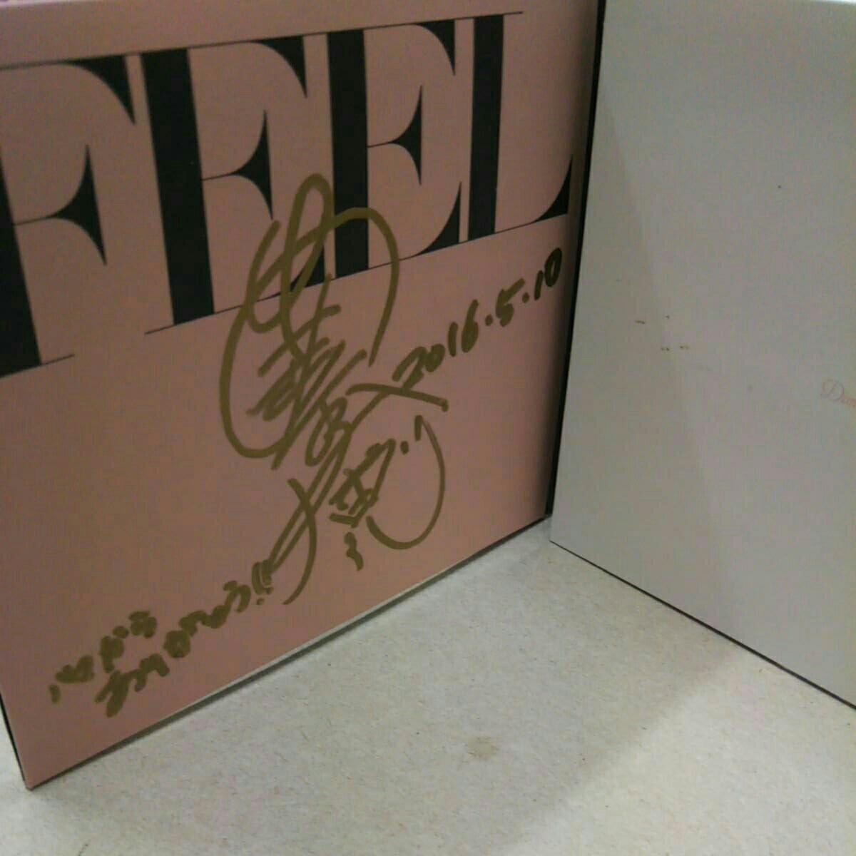 安室奈美恵さんFEEL直筆サインメッセージ、日付入りの一点物、初版プレスです。