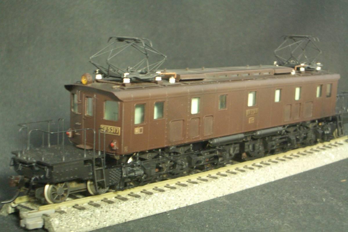 鉄道模型趣味誌掲載.精密加工モデル・国鉄EF53形電機~珊瑚製キット組立/ウェザリング仕上_画像6