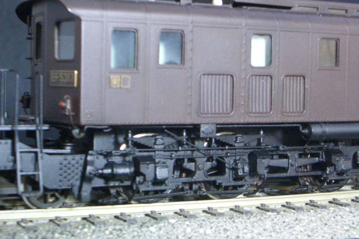 鉄道模型趣味誌掲載.精密加工モデル・国鉄EF53形電機~珊瑚製キット組立/ウェザリング仕上_画像8