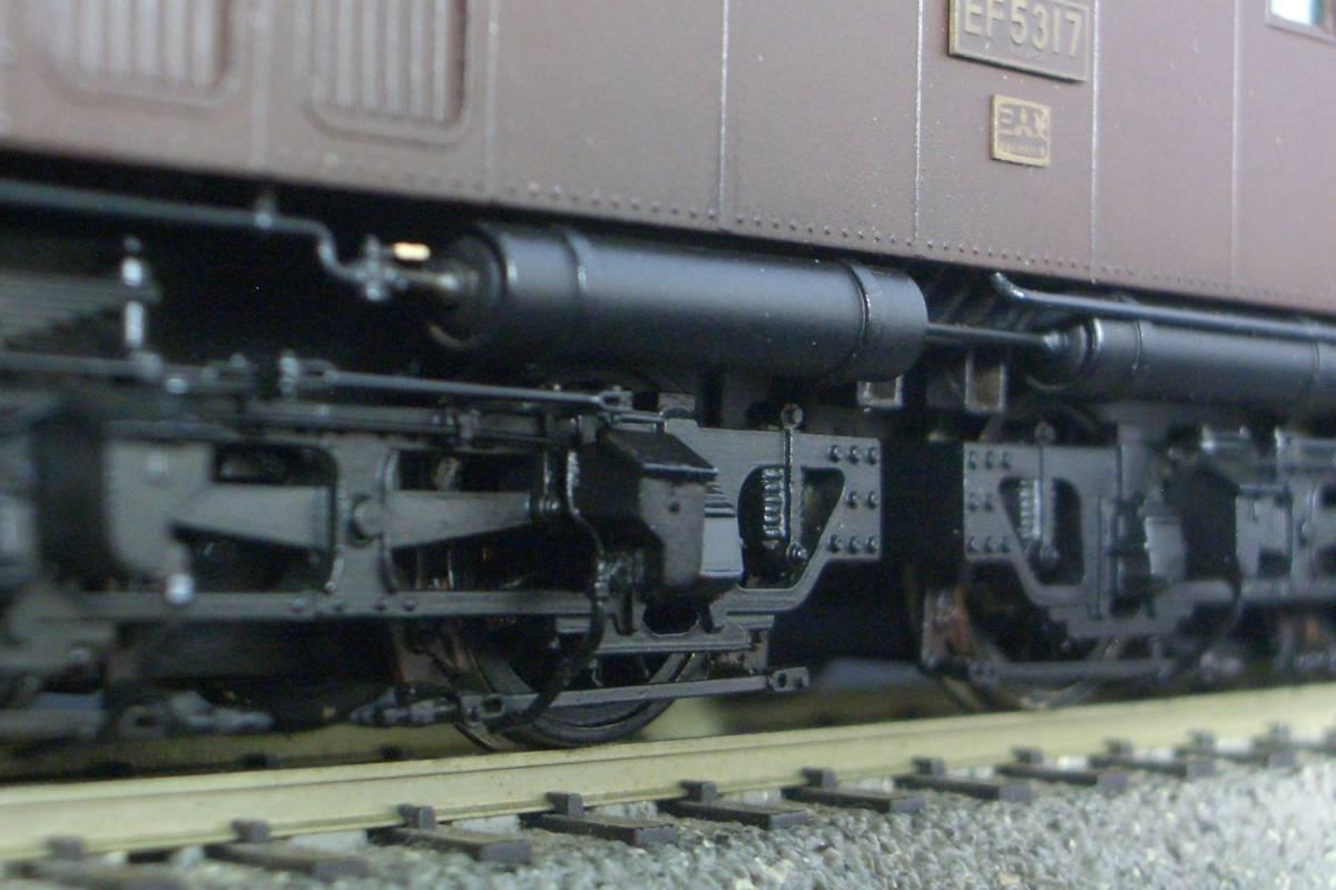 鉄道模型趣味誌掲載.精密加工モデル・国鉄EF53形電機~珊瑚製キット組立/ウェザリング仕上_画像9