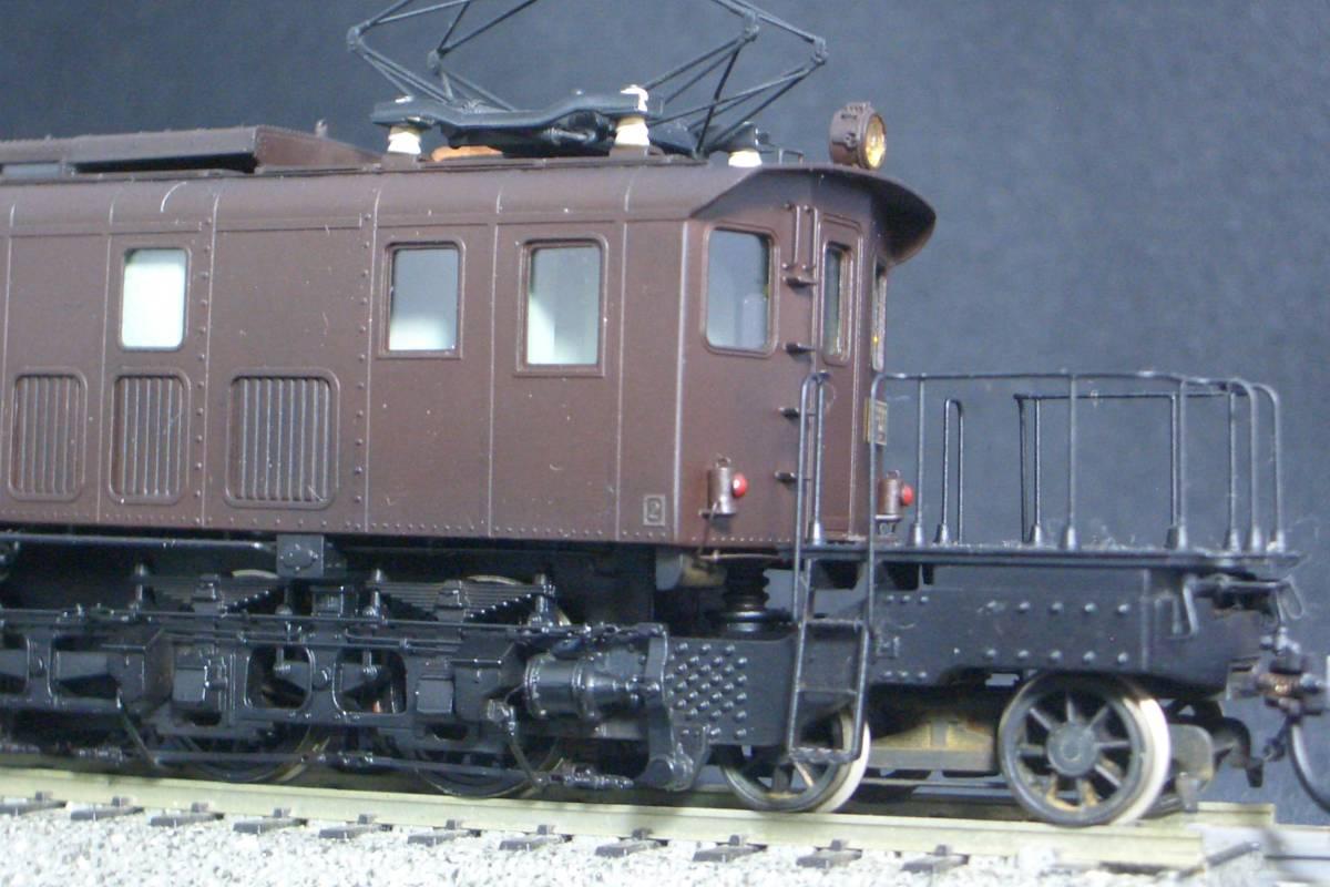 鉄道模型趣味誌掲載.精密加工モデル・国鉄EF53形電機~珊瑚製キット組立/ウェザリング仕上_画像10