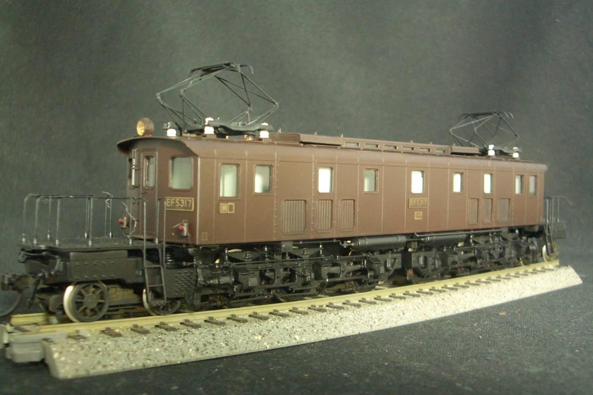 鉄道模型趣味誌掲載.精密加工モデル・国鉄EF53形電機~珊瑚製キット組立/ウェザリング仕上_画像5